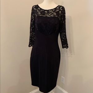 Jessica Howard black lace overlay cocktail dress